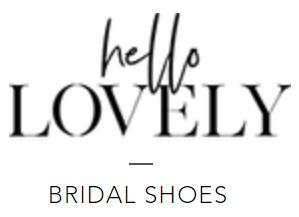 hello lovely bridal shoes logo